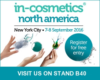 in-cosmetics North America, NYC 7-8 September 2016