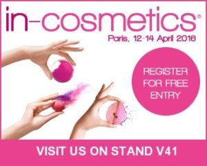 in-cosmetics Paris, 12-14 April 2016